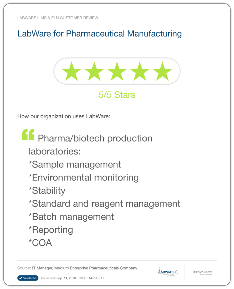 LabWare Contract Manufacturing