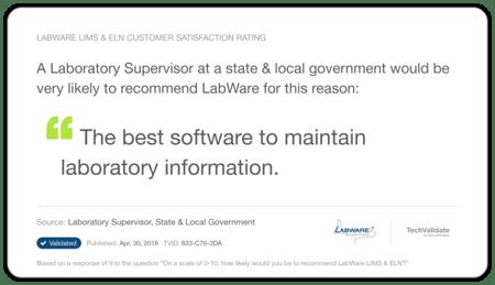 LabWare LIMS Forensics Testimonial 2