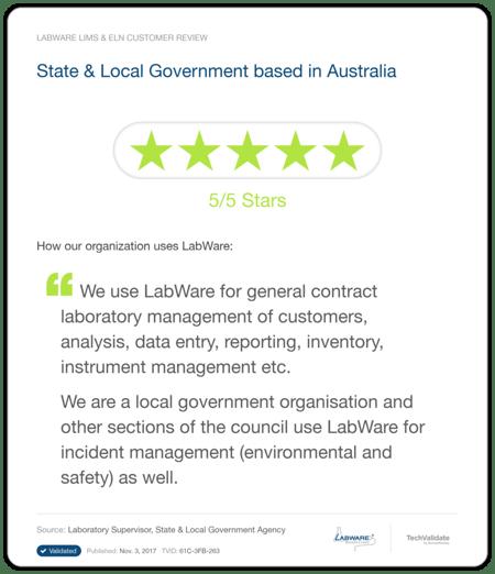 LabWare LIMS Forensics Testimonial 3