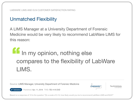 LabWare LIMS Forensics Testimonial