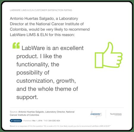 LabWare Healthcare Testimonial 1