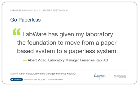 LabWare Healthcare Testimonial 2