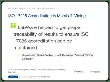 LabWare Mining Metals Testimonial 2