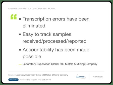 LabWare Mining Metals Testimonial 3