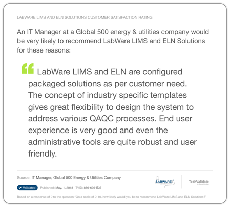 LabWare Oil Gas Testimonial 1