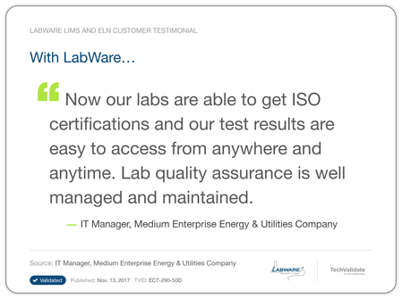 LabWare Oil Gas Testimonial 2