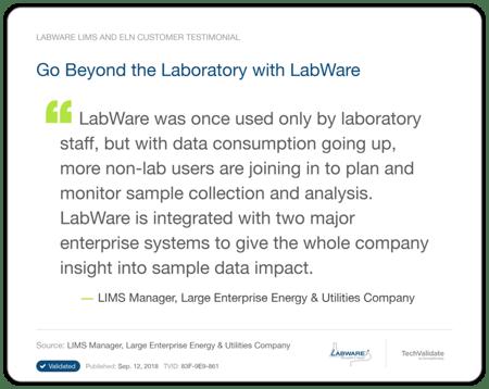 LabWare Oil Gas Testimonial 3
