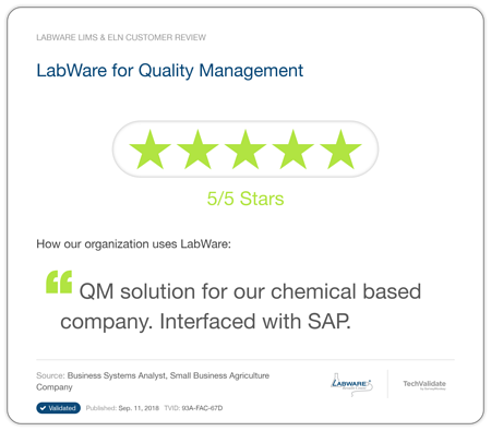 LabWare Process Industrial Chemical Testimonial 1
