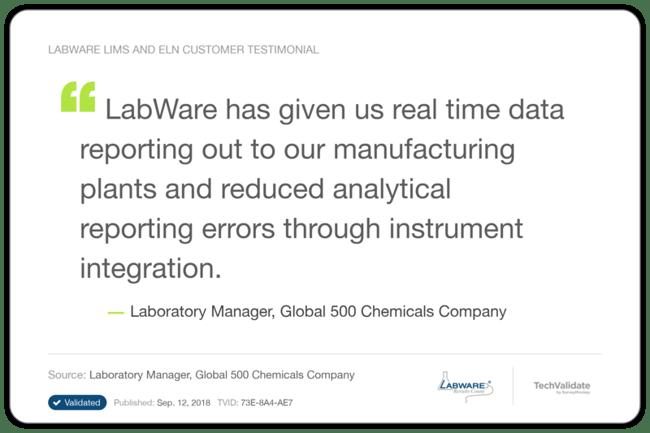 Cloud LIMS Testimonial 3